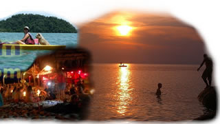 Night activities at Perhentian Island